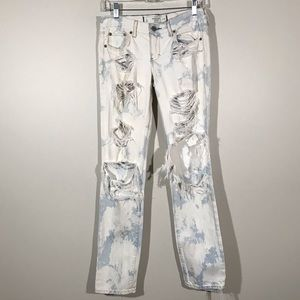 Abercrombie Fitch Super Distressed Bleached Jeans